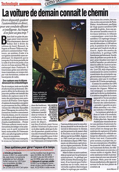 VSD N° 1046  reportage sur l'ordinateur embarqué