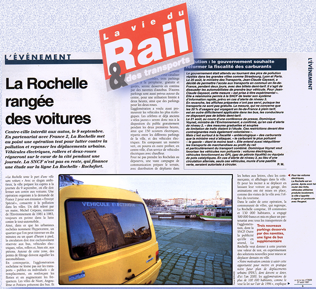 La vie du rail reportage sur la voiture electrique